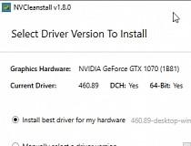 NVCleanstall Screenshot