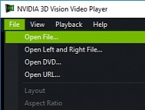 NVIDIA 3D Vision Video Player 1.6.9 screenshot