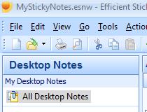 stick note on desktop