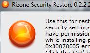 rizone security restore
