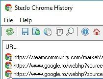 Download SterJo Chrome History Portable 1 1