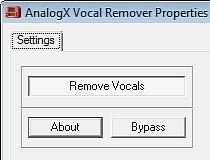 analogx vocal remover directx 1.0