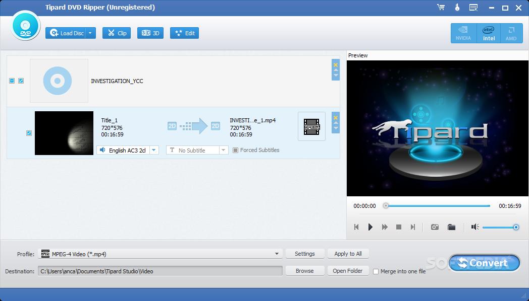 Download Tipard DVD Ripper 9.2.26