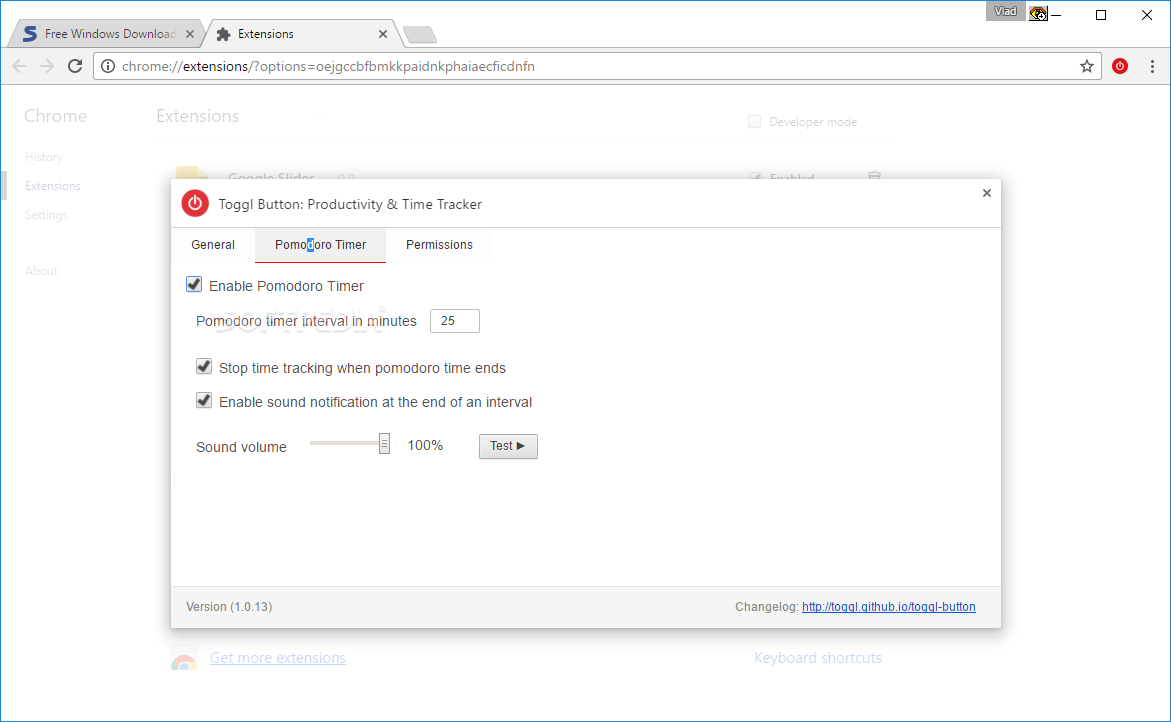 Download Toggl Chrome Extension 1 40 7