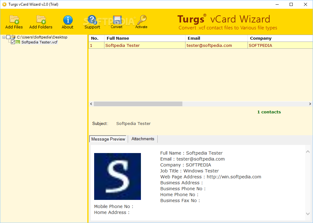 Download Turgs vCard Wizard 3 0