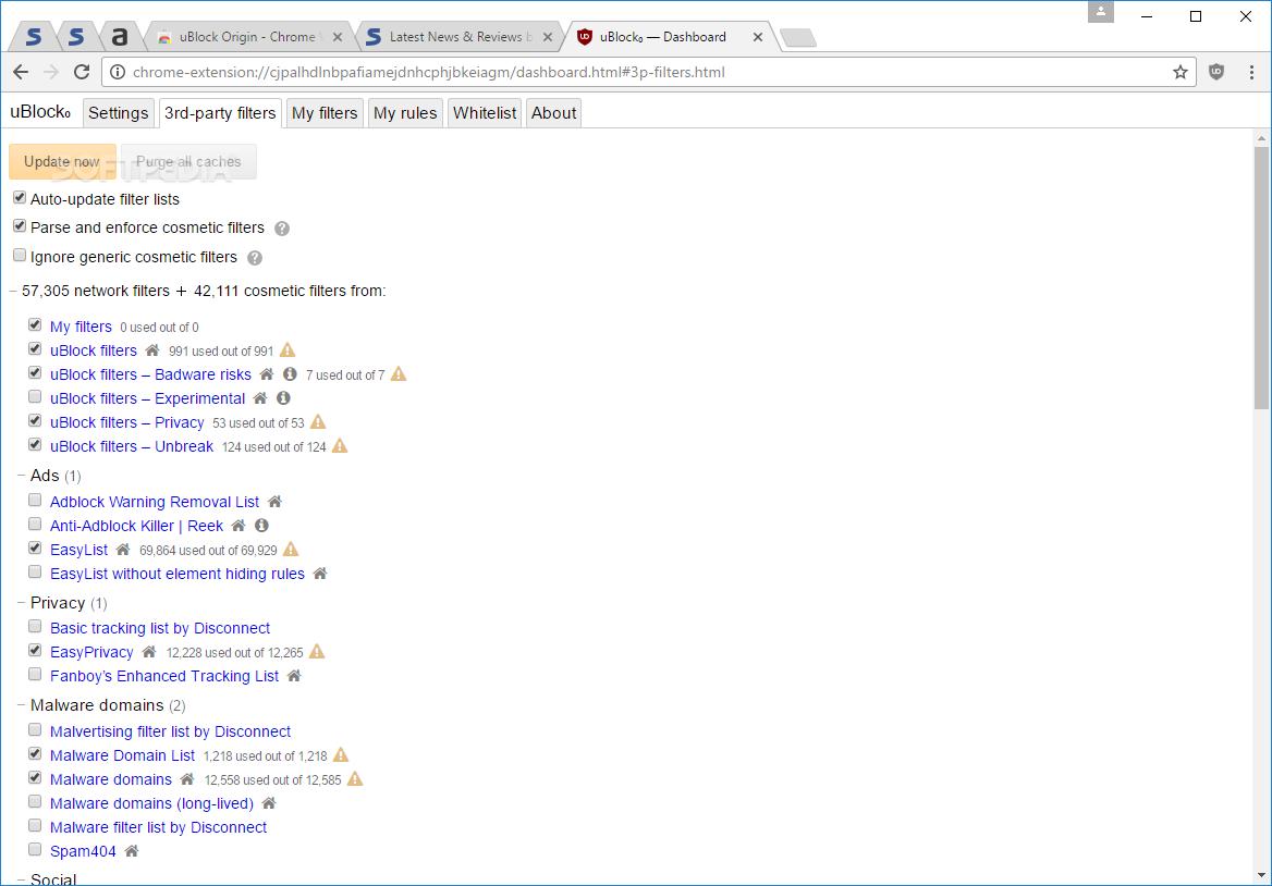 Download uBlock Origin for Chrome 1 21 6 / 1 21 7 Beta 6