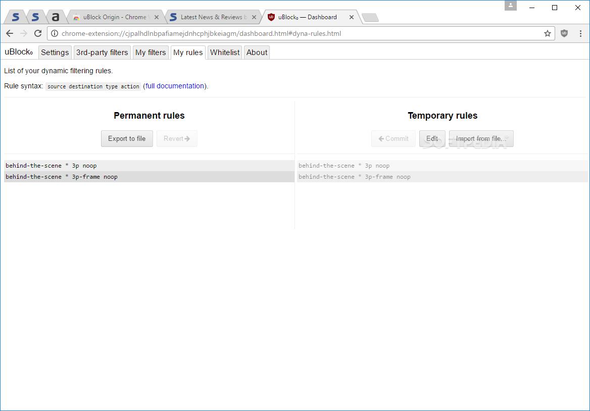 Download uBlock Origin for Chrome 1 22 0 / 1 22 1 Beta 3
