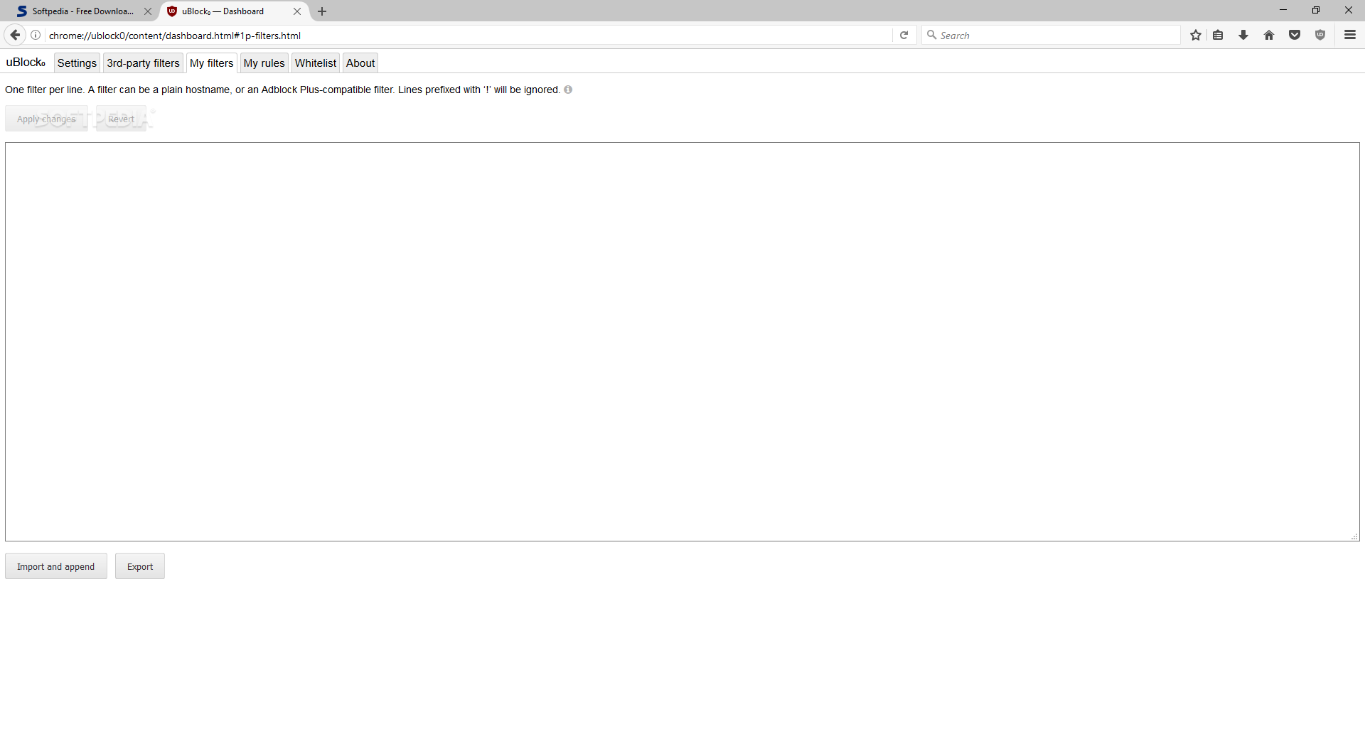 Download uBlock Origin for Firefox 1 21 2 / 1 21 7 Beta 6