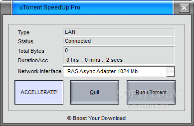 utorrent speed up and down