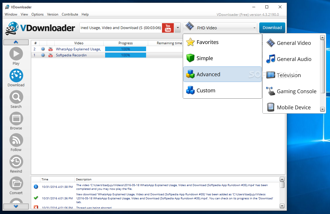 vdownloader gratis 0.82