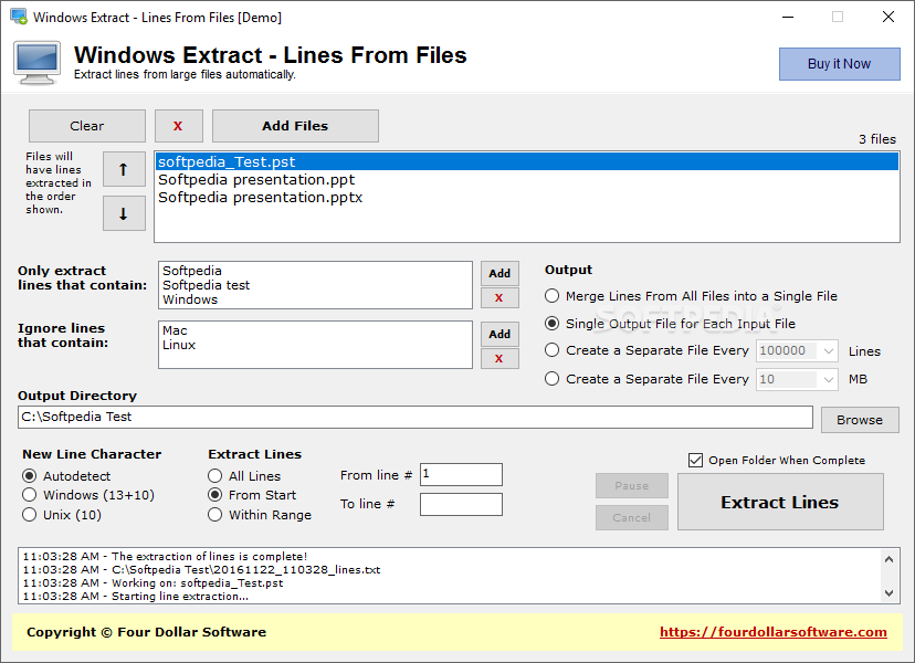 Download Windows Extract - Lines From Files 1 0
