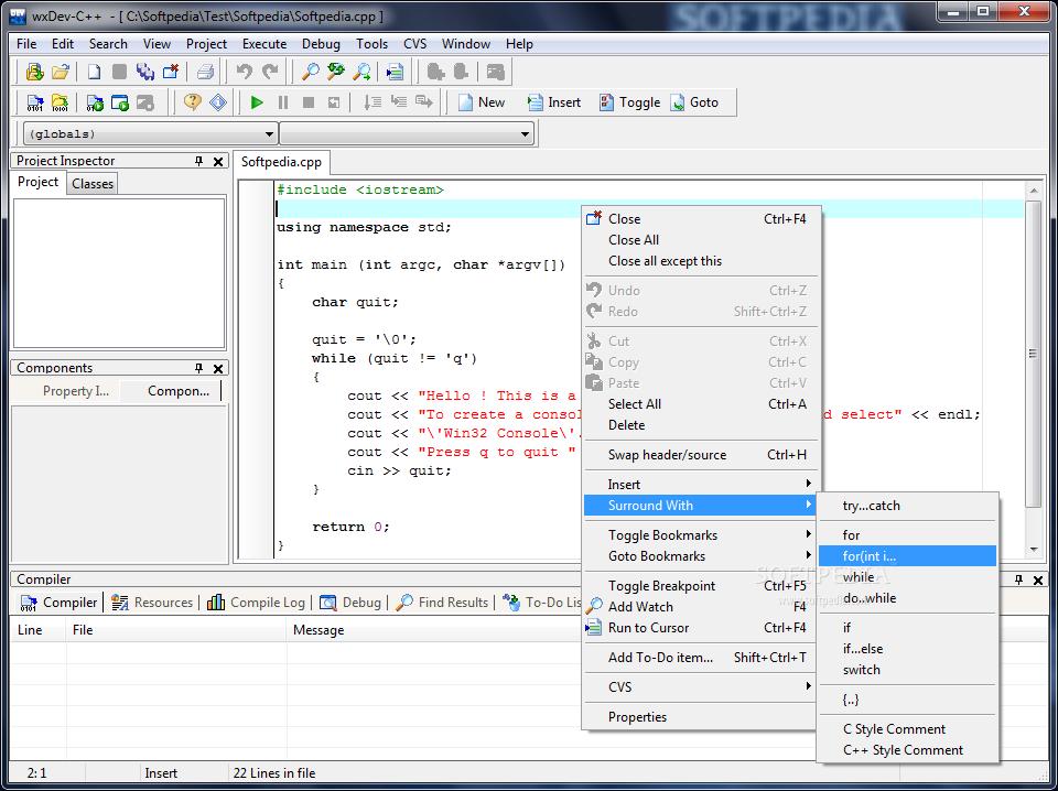 Download wxDev-C++ 7 4 2 569