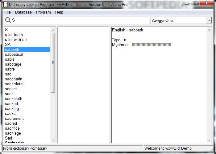 Download wxPyDict 0 7 0 Pre Alpha