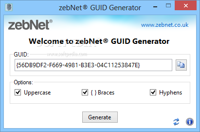 Download zebNet GUID Generator 2 1 0 0